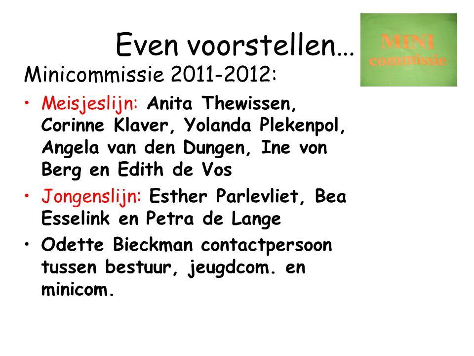 Even voorstellen… Minicommissie 2011-2012: