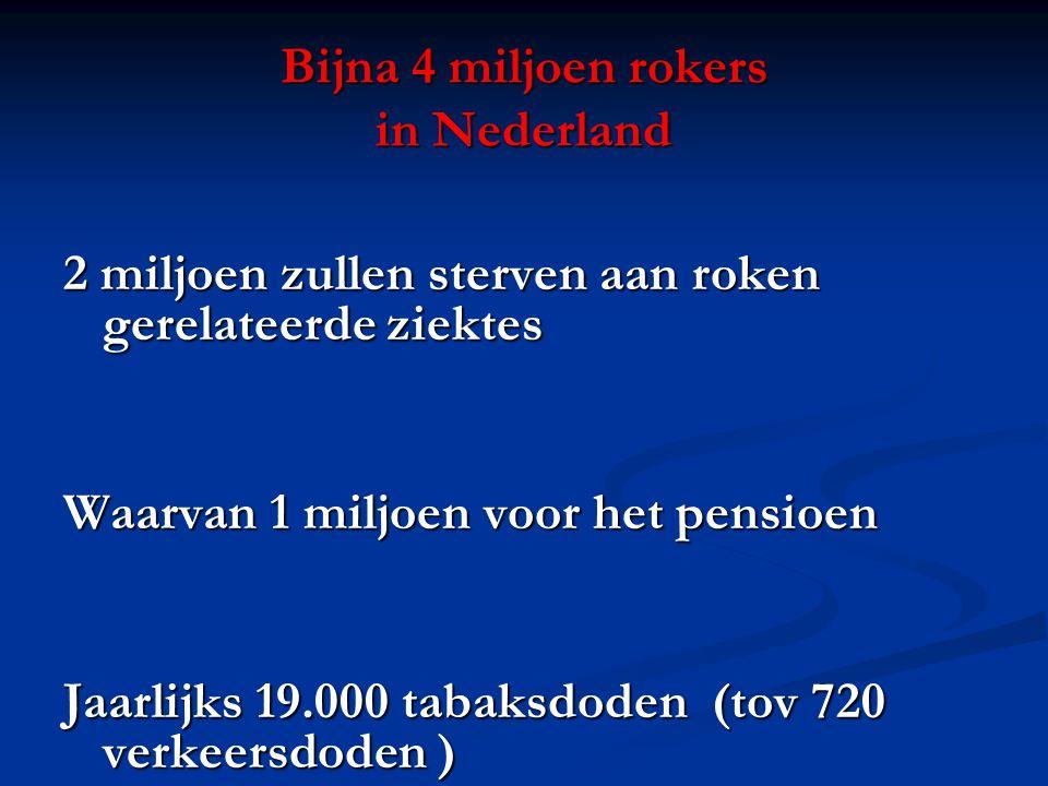 Bijna 4 miljoen rokers in Nederland