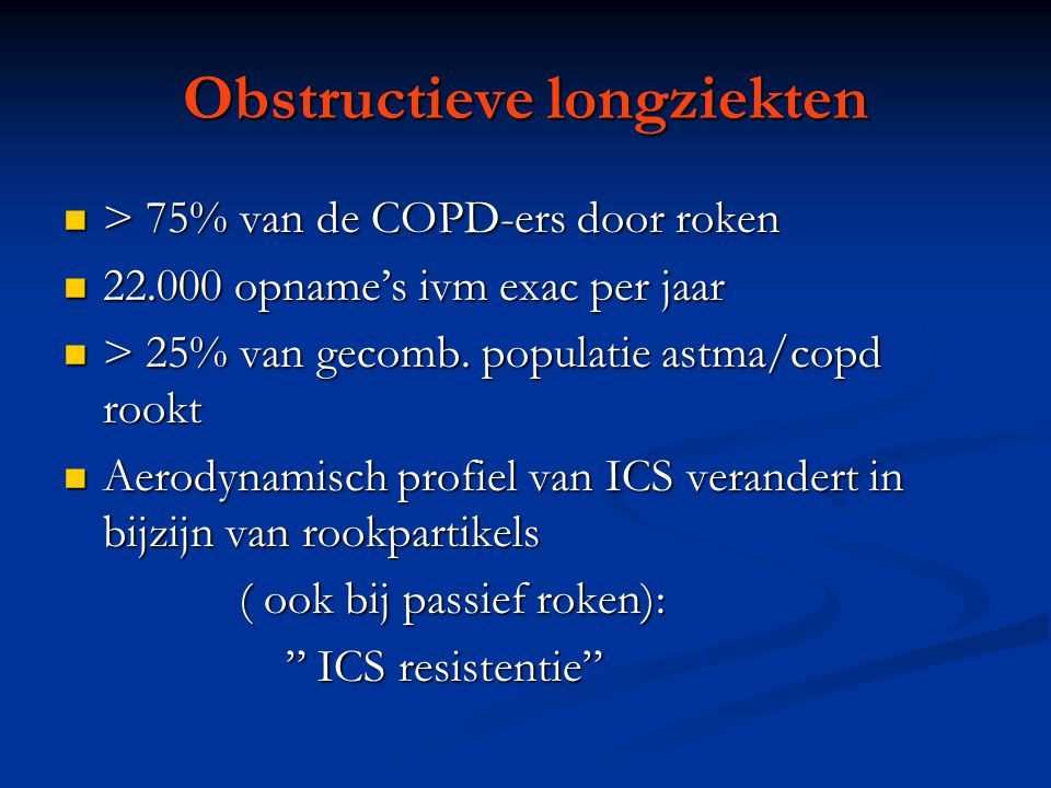 Obstructieve longziekten