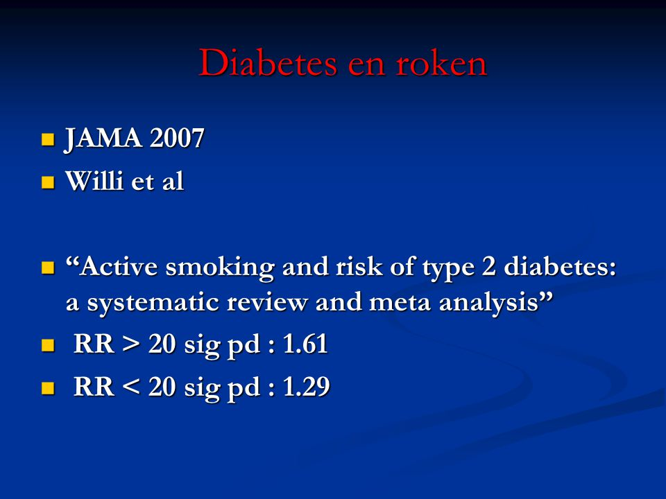 Diabetes en roken JAMA 2007 Willi et al