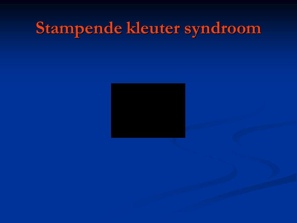Stampende kleuter syndroom