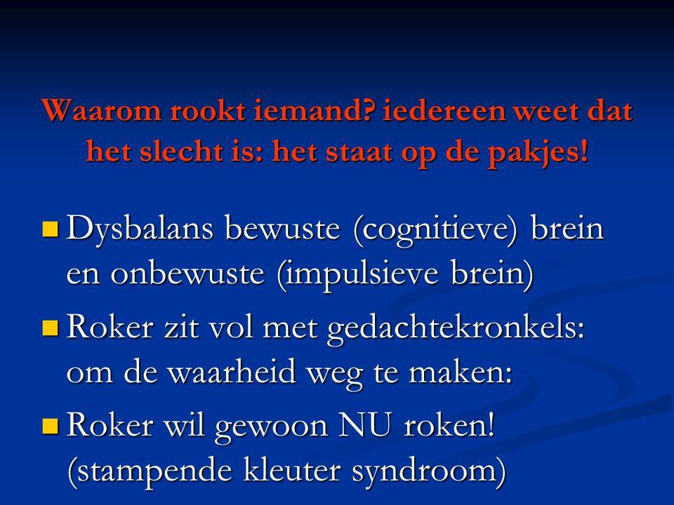 Dysbalans bewuste (cognitieve) brein en onbewuste (impulsieve brein)