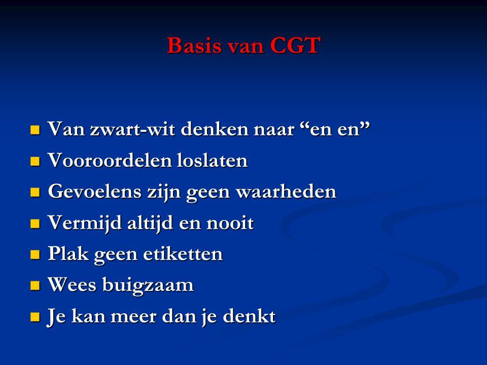 Basis van CGT Van zwart-wit denken naar en en Vooroordelen loslaten