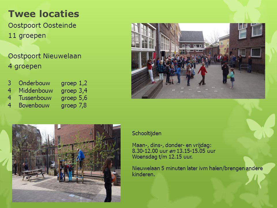 Twee locaties Oostpoort Oosteinde 11 groepen Oostpoort Nieuwelaan