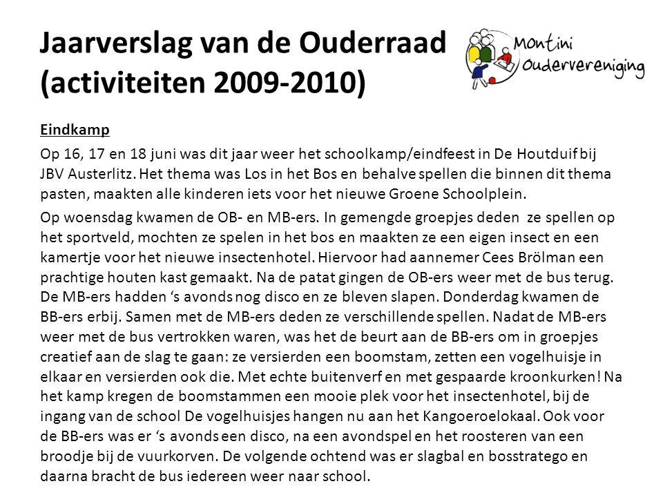 Jaarverslag van de Ouderraad (activiteiten 2009-2010)