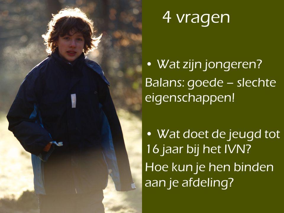 4 vragen Wat zijn jongeren Balans: goede – slechte eigenschappen!