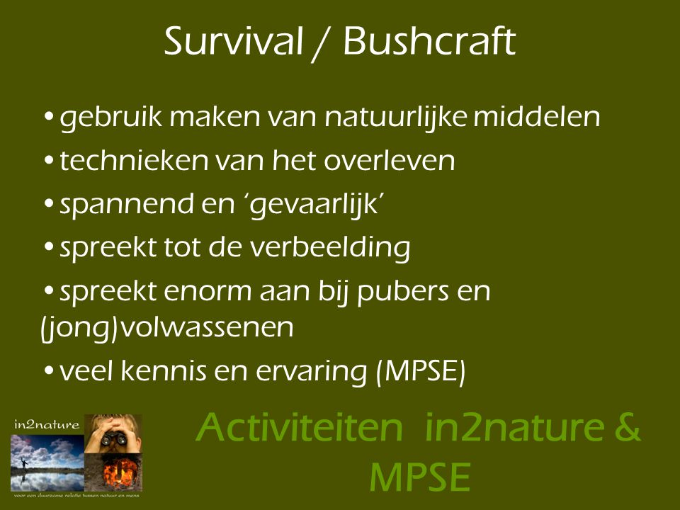 Activiteiten in2nature & MPSE