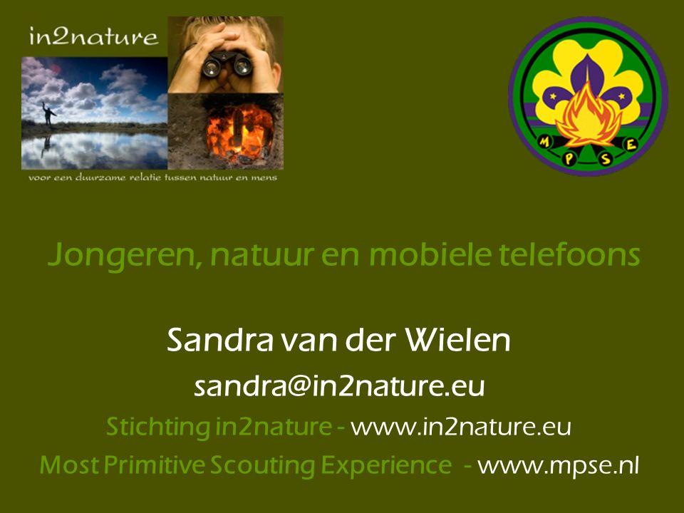 Jongeren, natuur en mobiele telefoons