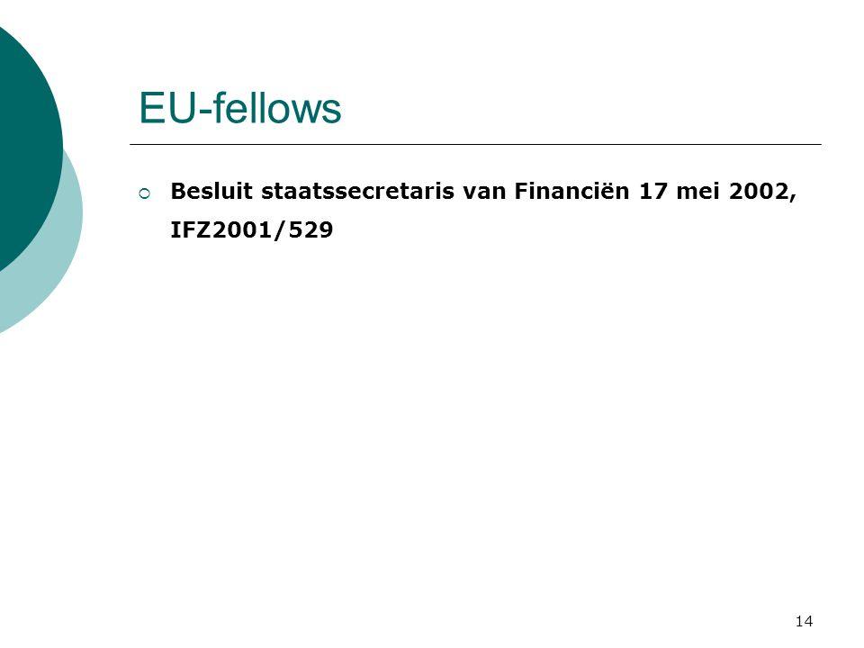 EU-fellows Besluit staatssecretaris van Financiën 17 mei 2002, IFZ2001/529