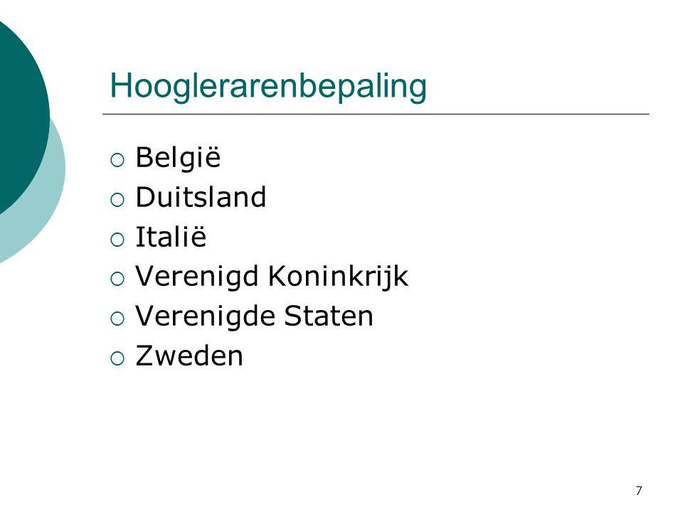 Hooglerarenbepaling België Duitsland Italië Verenigd Koninkrijk