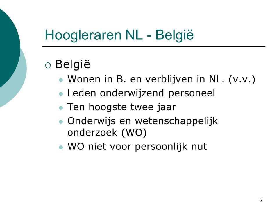 Hoogleraren NL - België