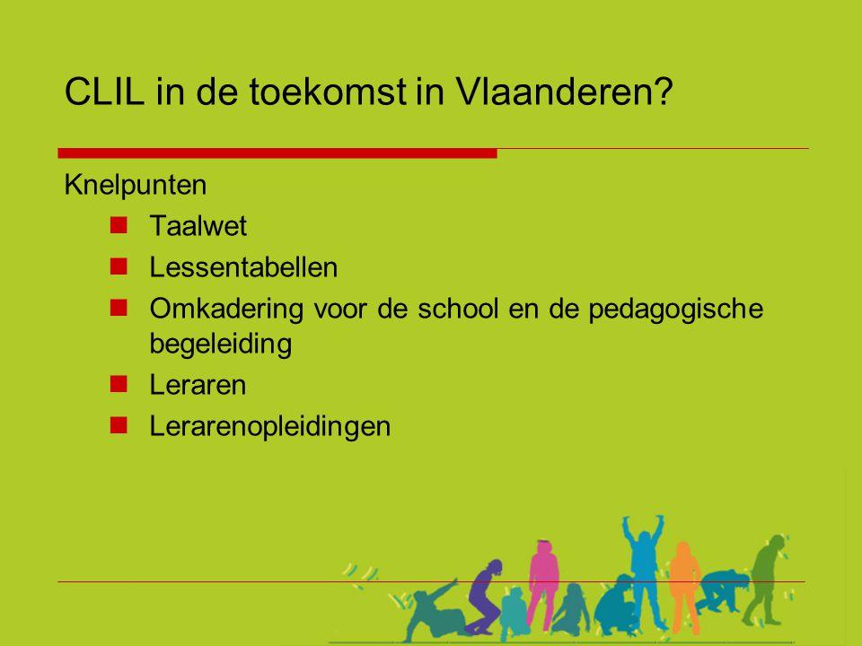 CLIL in de toekomst in Vlaanderen