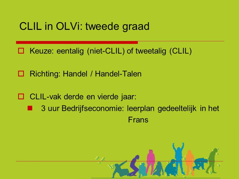CLIL in OLVi: tweede graad
