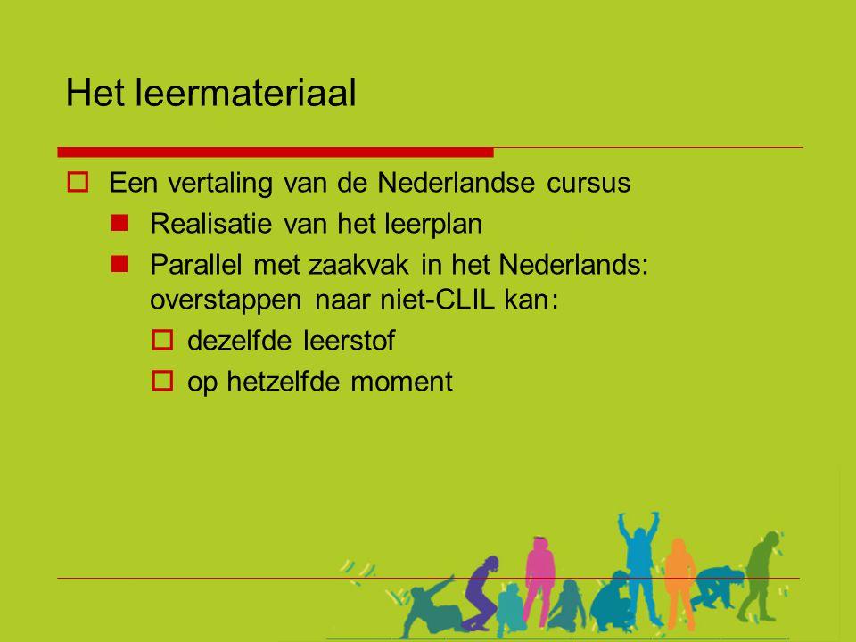 Het leermateriaal Een vertaling van de Nederlandse cursus