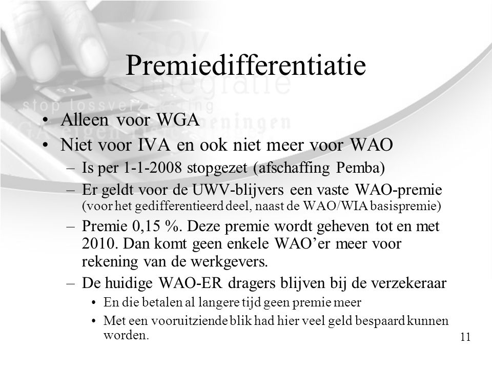 Premiedifferentiatie