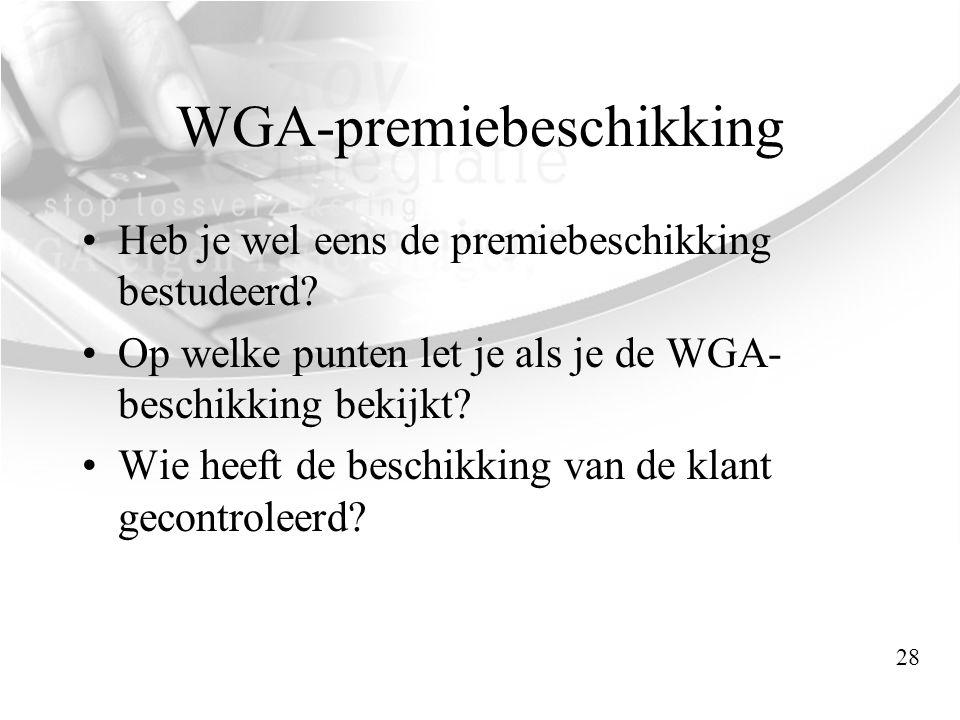 WGA-premiebeschikking