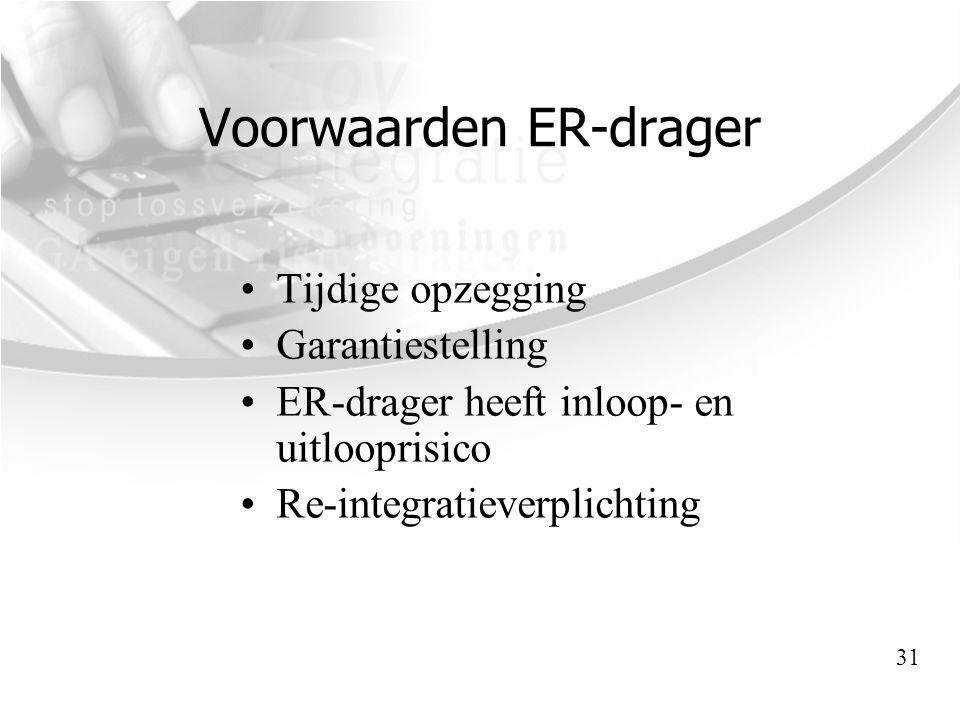 Voorwaarden ER-drager