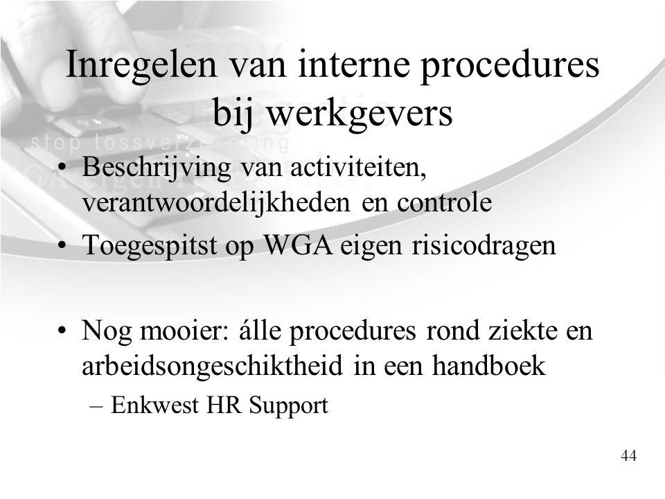 Inregelen van interne procedures bij werkgevers