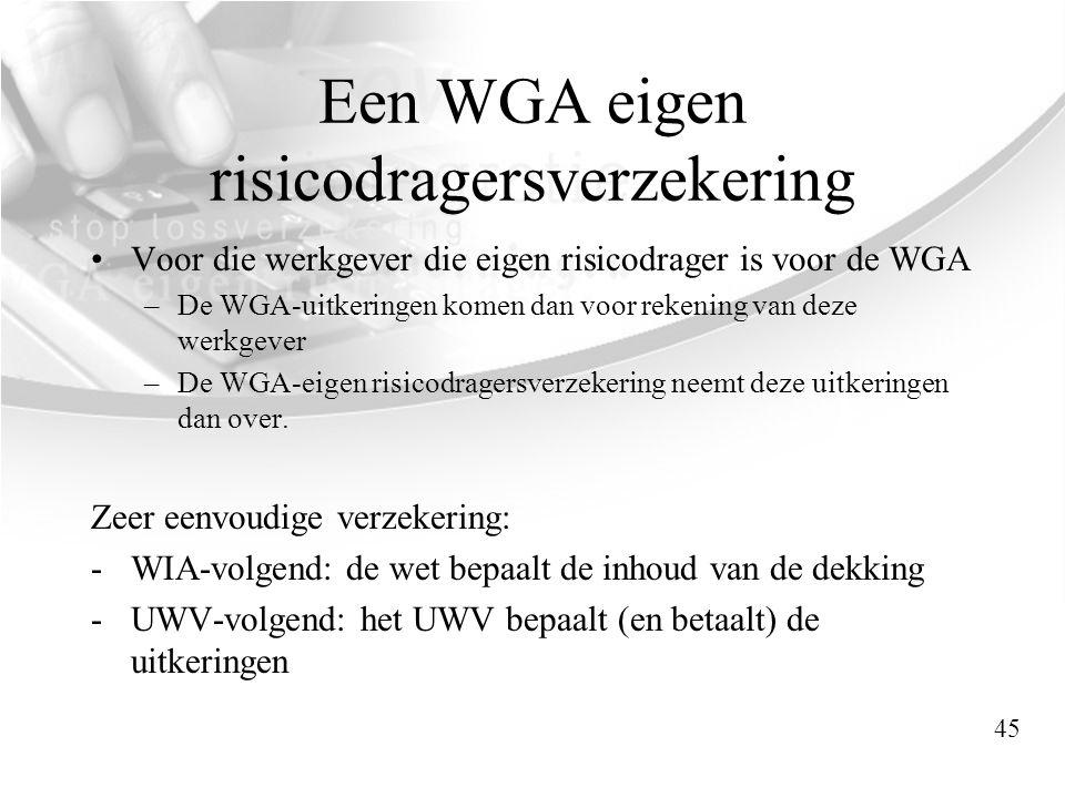 Een WGA eigen risicodragersverzekering