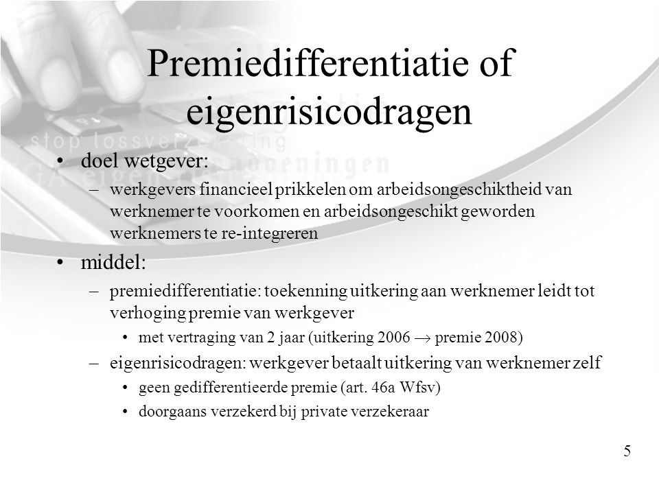Premiedifferentiatie of eigenrisicodragen