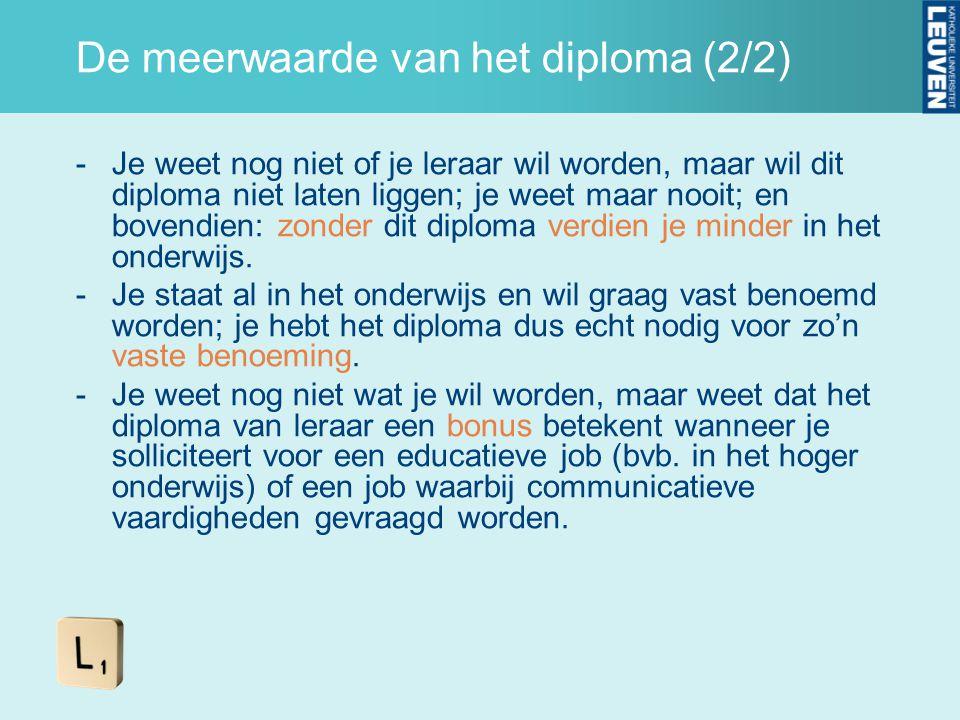 De meerwaarde van het diploma (2/2)