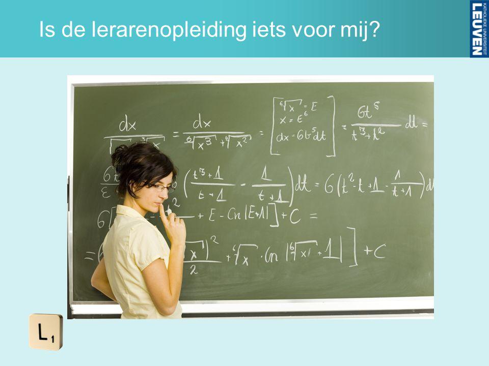 Is de lerarenopleiding iets voor mij