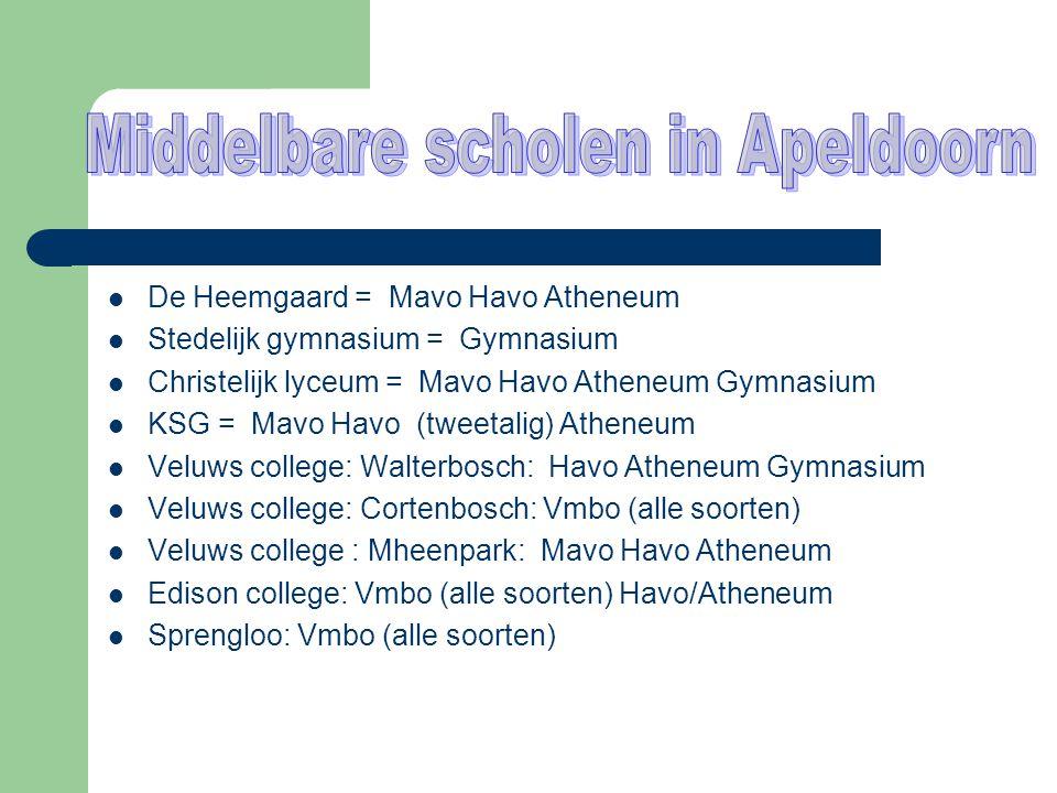 Middelbare scholen in Apeldoorn