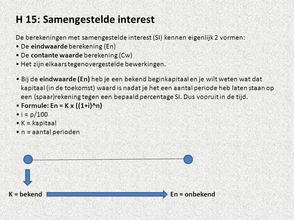 H 15: Samengestelde interest