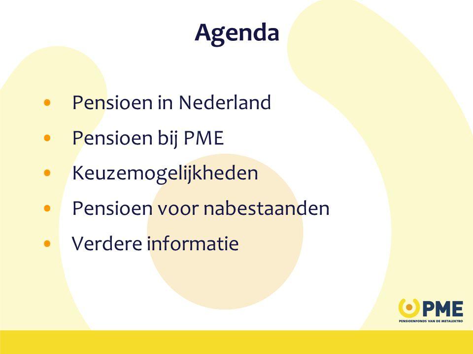 Agenda Pensioen in Nederland Pensioen bij PME Keuzemogelijkheden