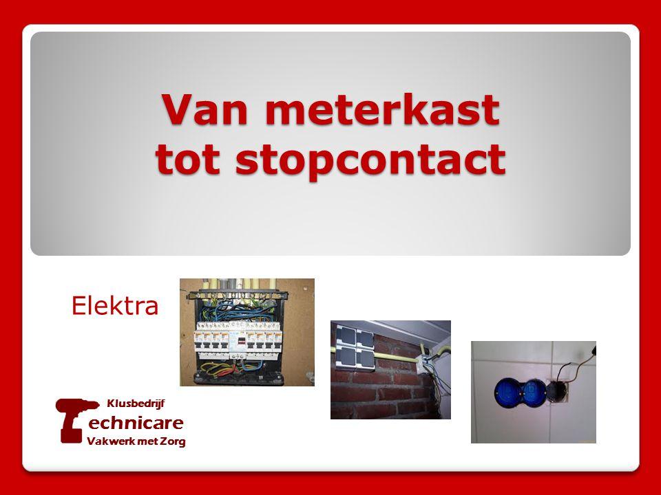 Van meterkast tot stopcontact