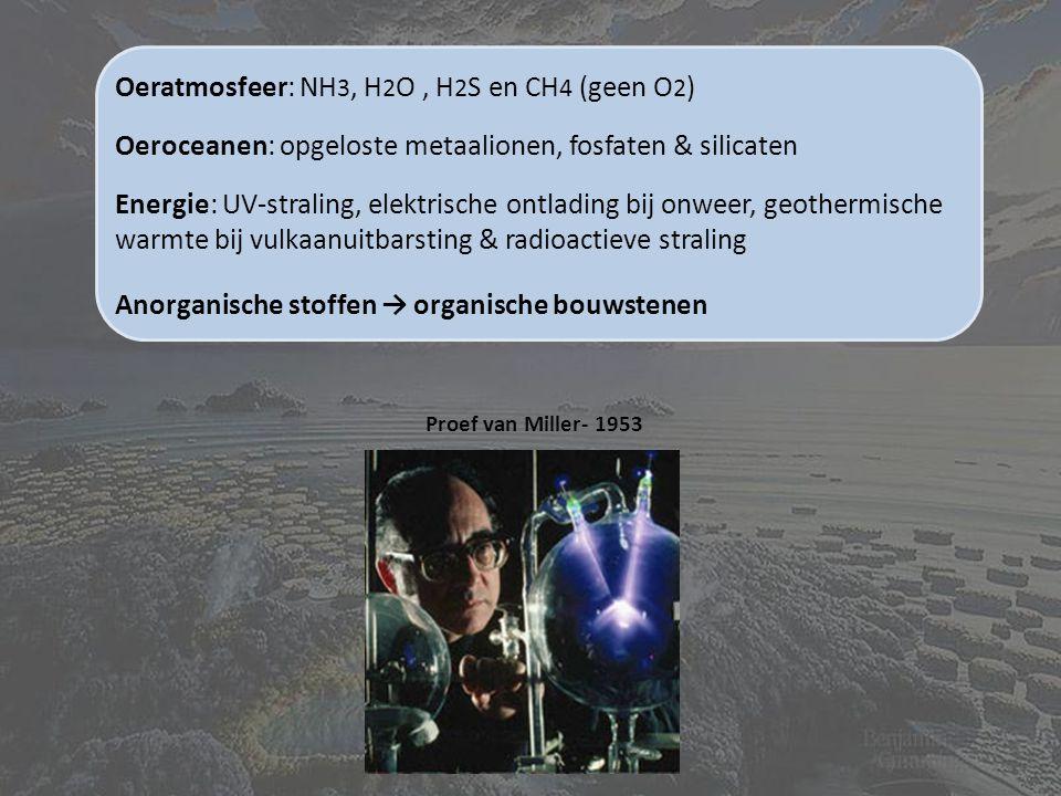 Oeratmosfeer: NH3, H2O , H2S en CH4 (geen O2)
