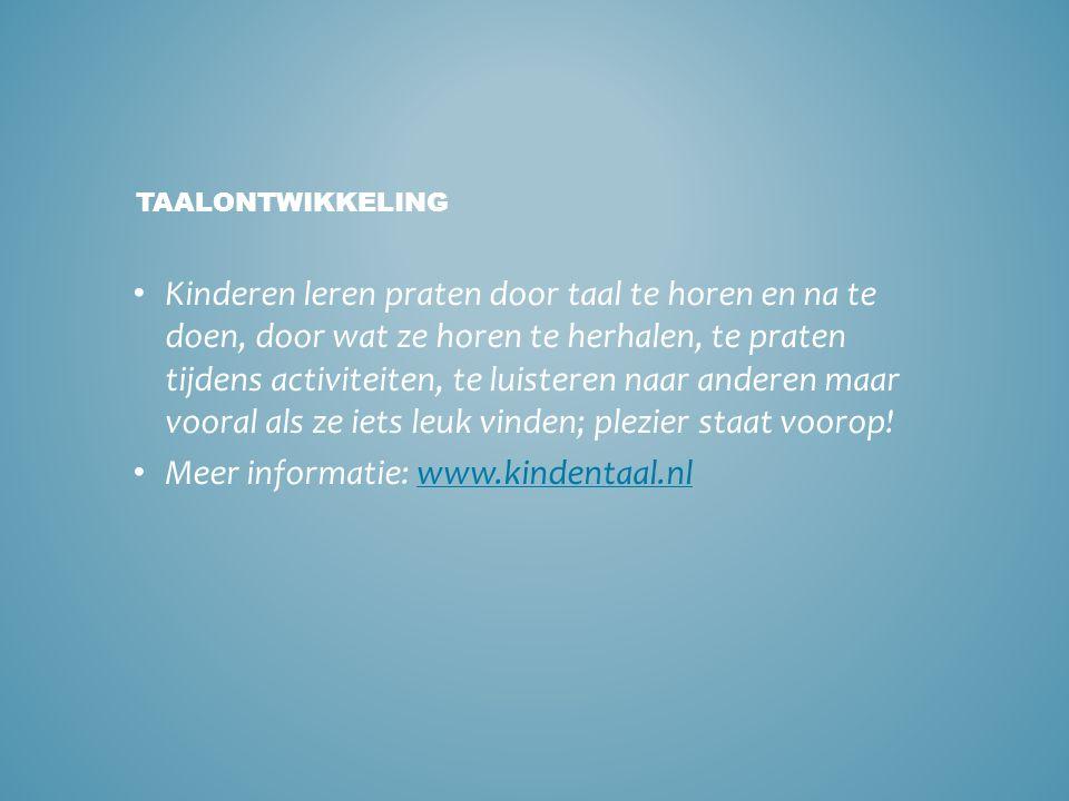 Meer informatie: www.kindentaal.nl
