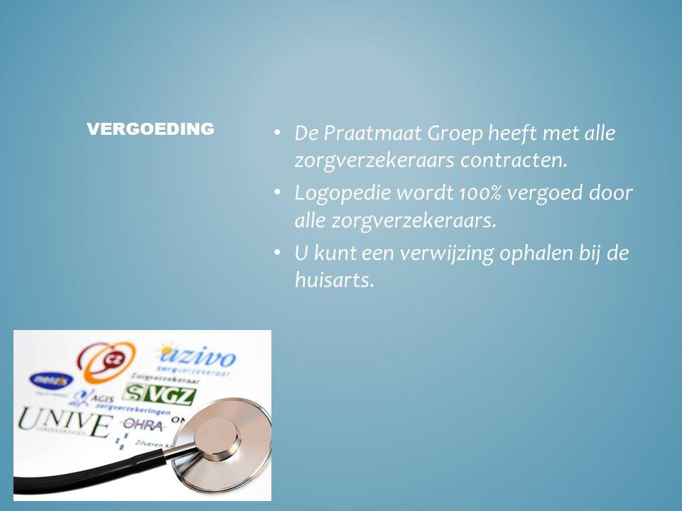 De Praatmaat Groep heeft met alle zorgverzekeraars contracten.