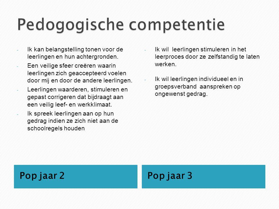 Pedogogische competentie