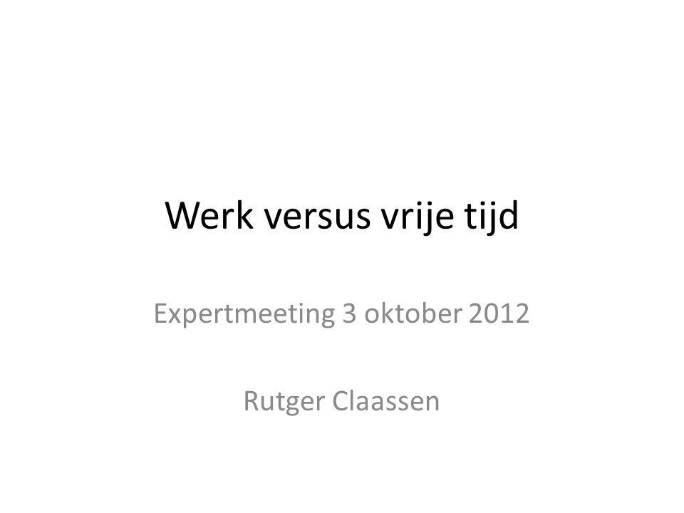 Expertmeeting 3 oktober 2012 Rutger Claassen