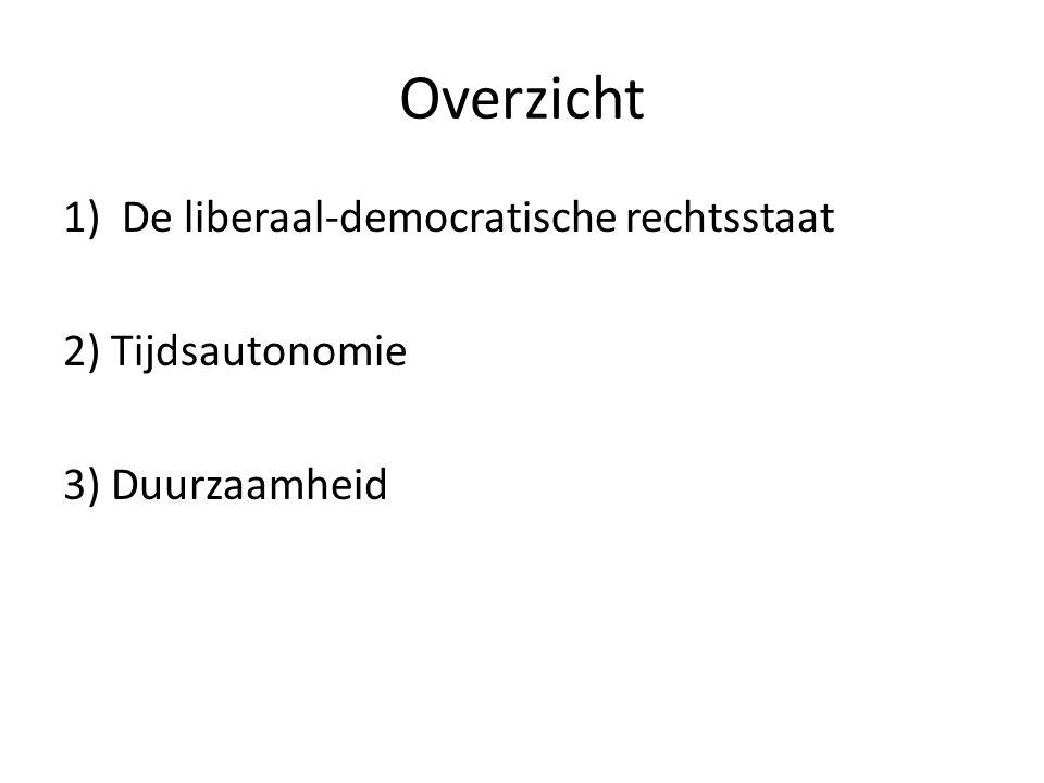 Overzicht De liberaal-democratische rechtsstaat 2) Tijdsautonomie