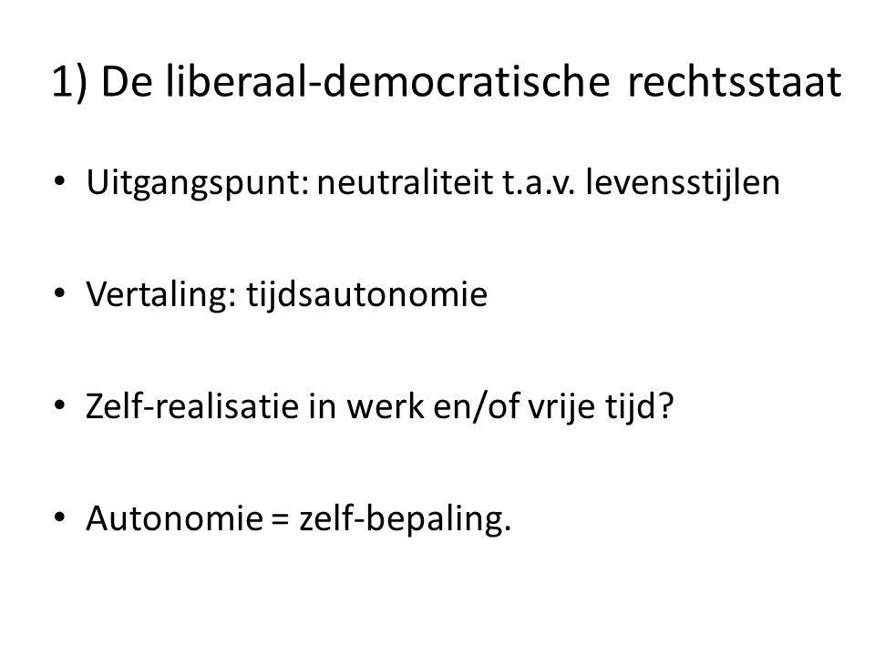 1) De liberaal-democratische rechtsstaat
