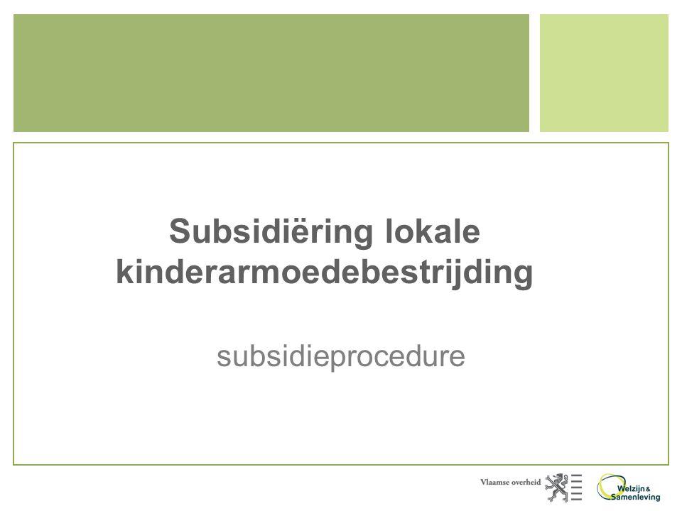 Subsidiëring lokale kinderarmoedebestrijding