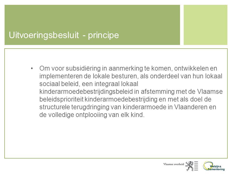 Uitvoeringsbesluit - principe