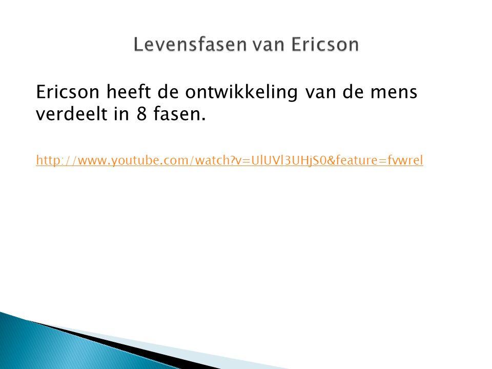 Levensfasen van Ericson