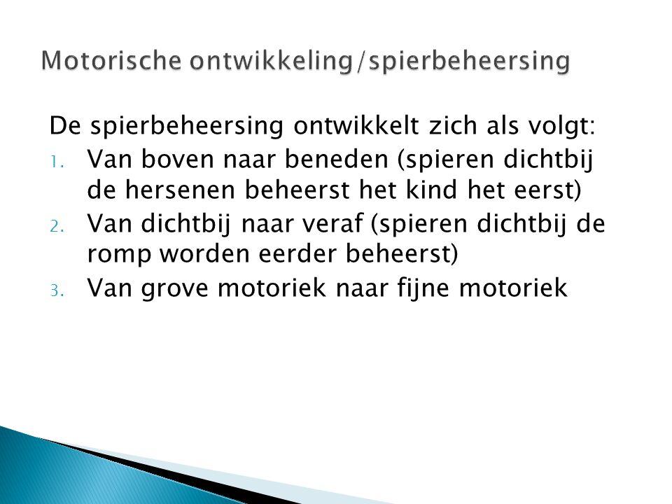 Motorische ontwikkeling/spierbeheersing