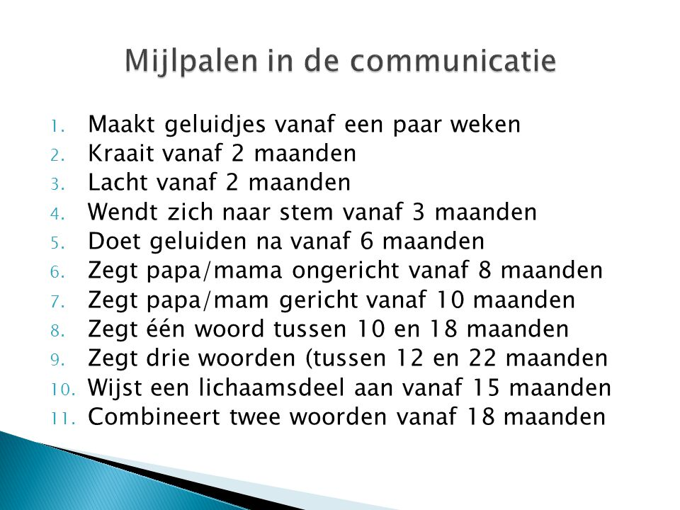 Mijlpalen in de communicatie