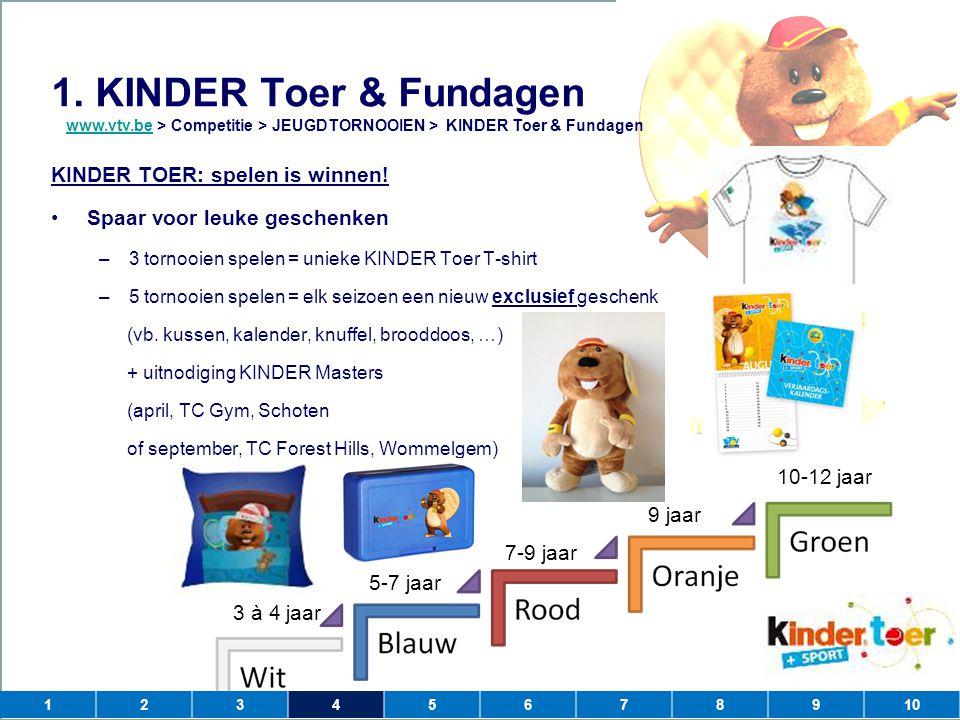 1. KINDER Toer & Fundagen KINDER TOER: spelen is winnen!