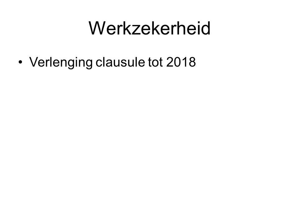 Werkzekerheid Verlenging clausule tot 2018