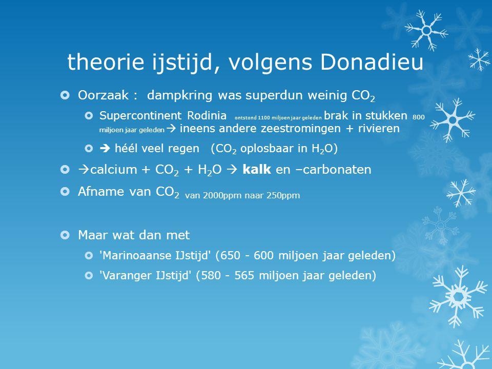 theorie ijstijd, volgens Donadieu