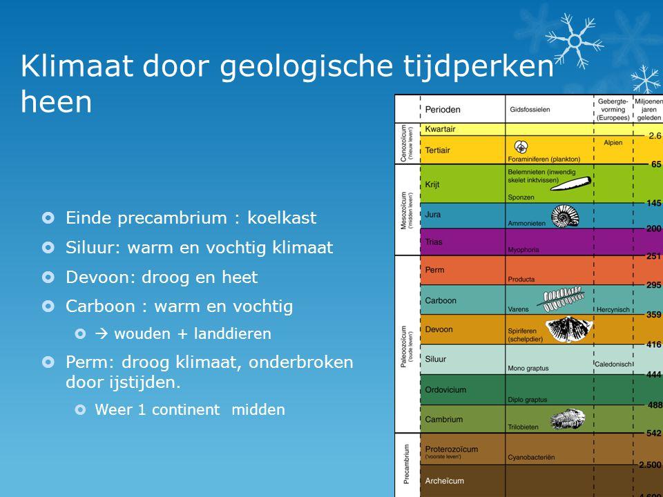 Klimaat door geologische tijdperken heen