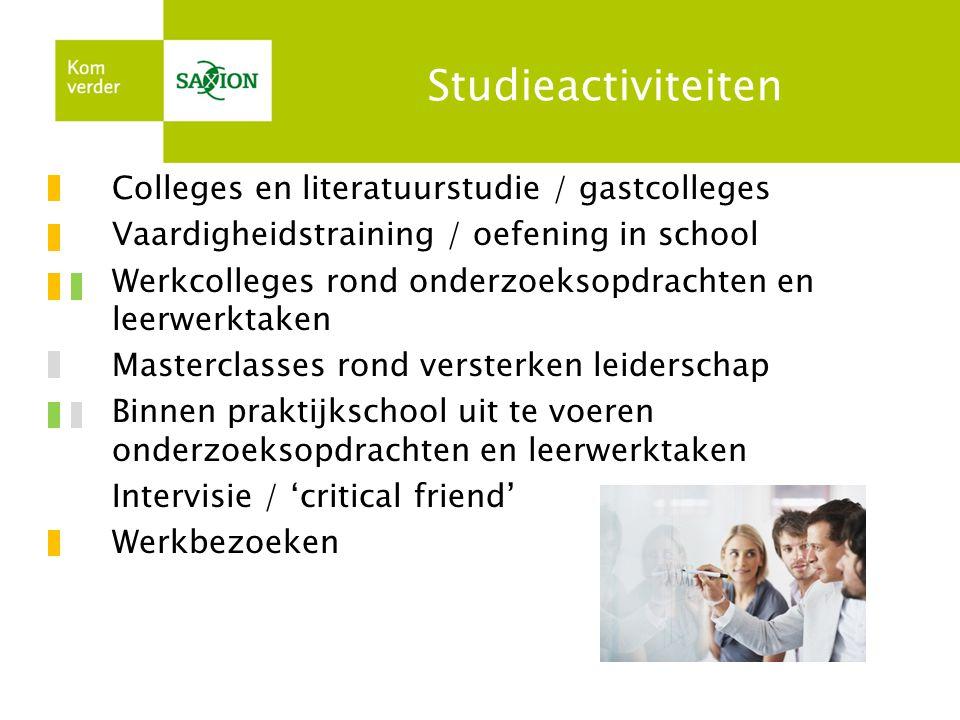 Studieactiviteiten Colleges en literatuurstudie / gastcolleges