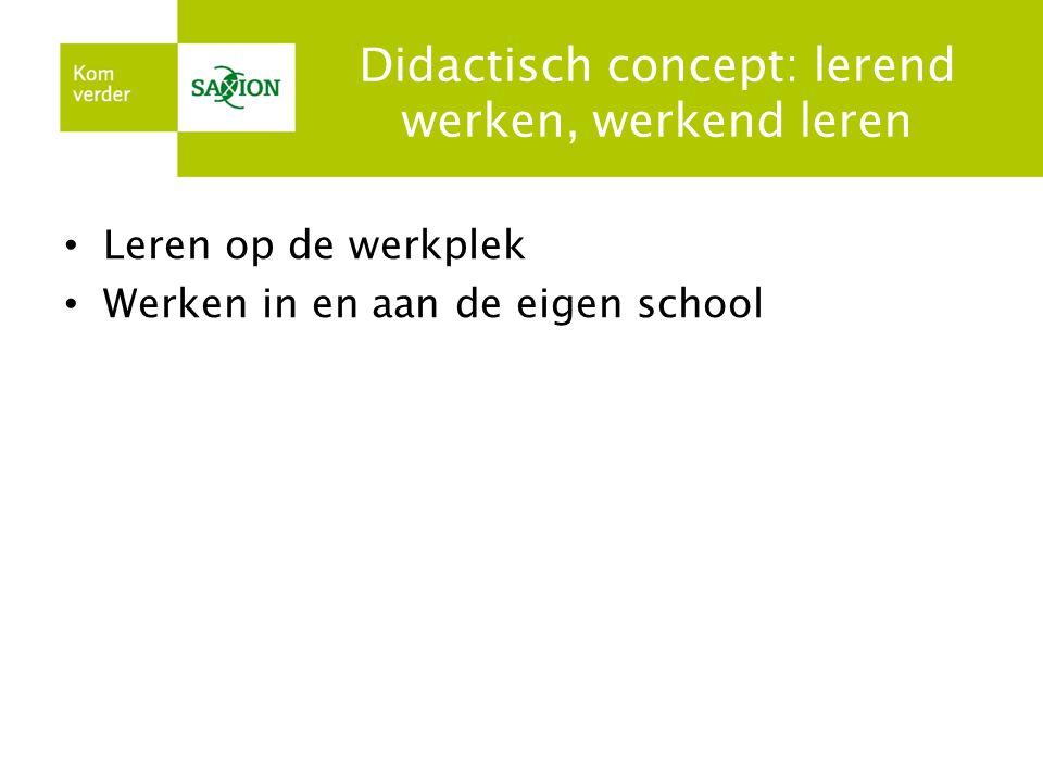Didactisch concept: lerend werken, werkend leren
