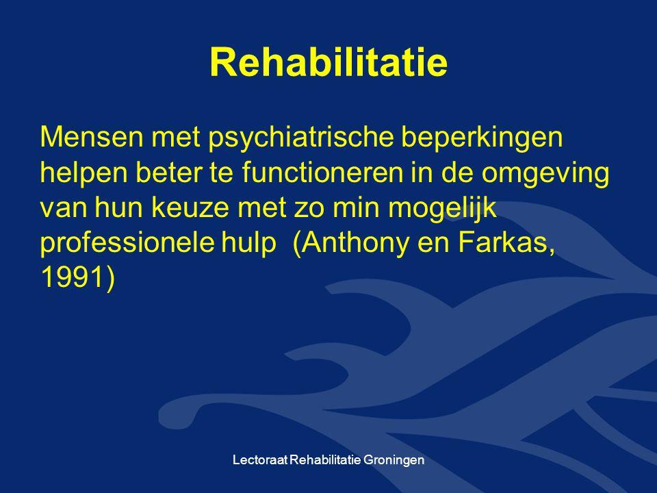 Lectoraat Rehabilitatie Groningen