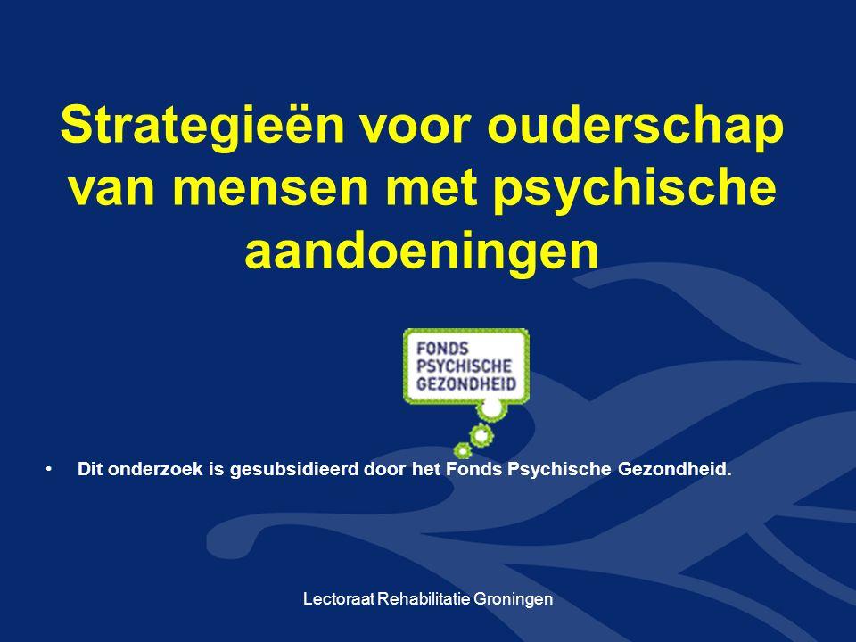 Strategieën voor ouderschap van mensen met psychische aandoeningen